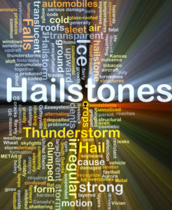 Hailstone Damage To Exterior Of Home Or Business